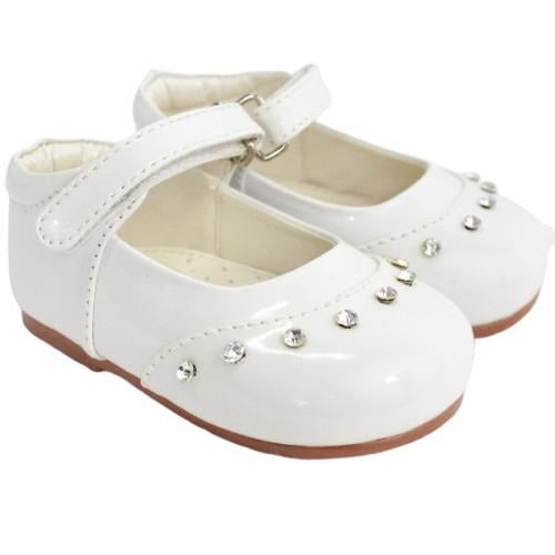 Girls Early Steps Fairy White Patent Shoes