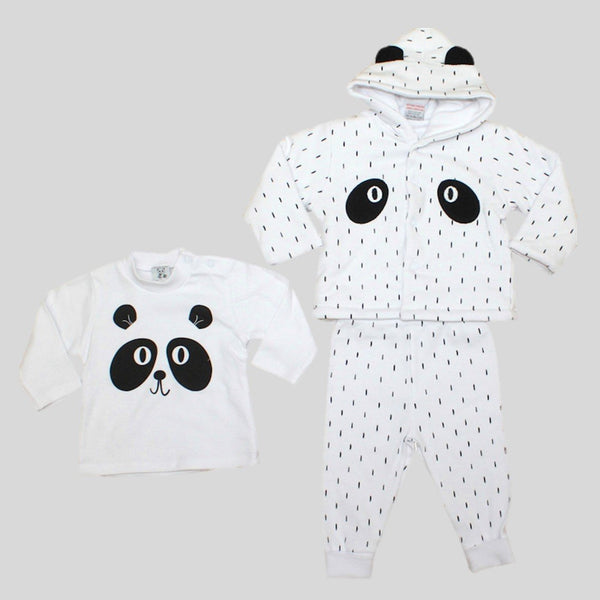 'Panda' Trousers, Jumper & Jacket Set