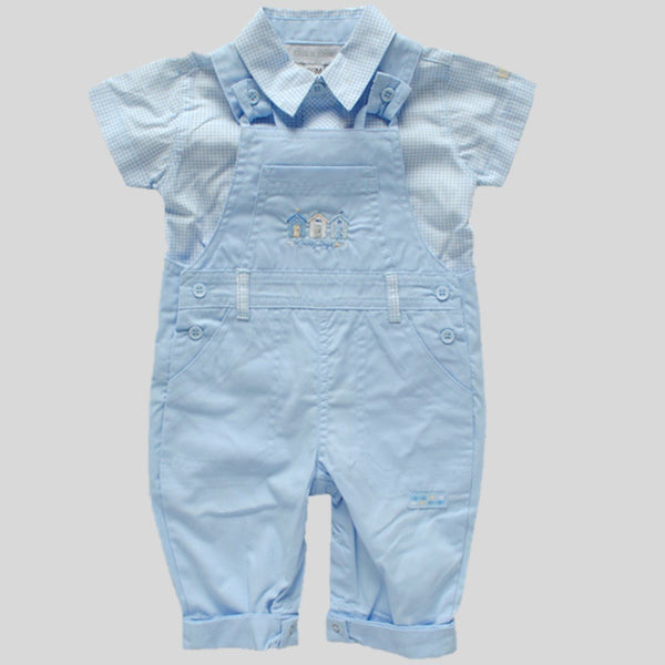 'Sunny Days' Dungaree Style Romper & Shirt Set
