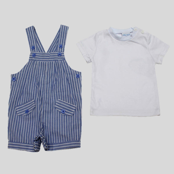 Striped Dungarees & T-Shirt Set