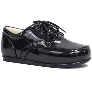 Boys Early Steps Royal Shoes In Black Patent