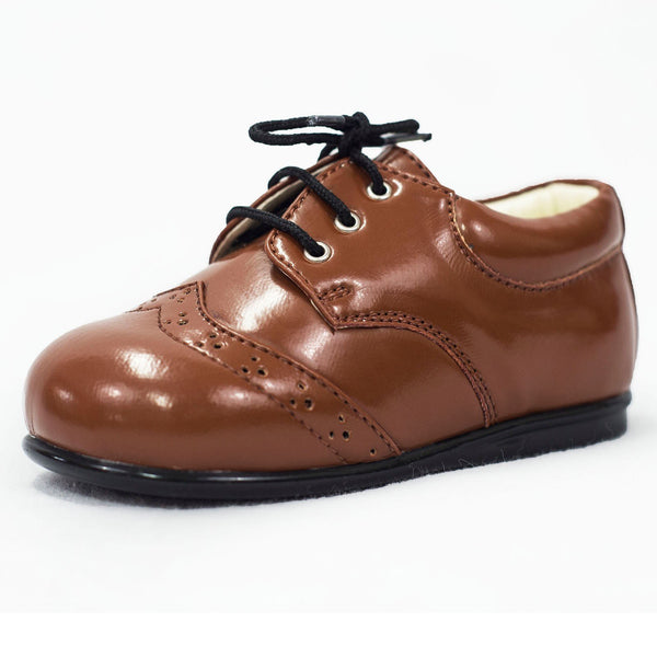 Boys Early Steps Brogues In Brown Patent