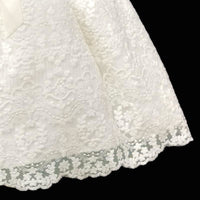 Girls Ivory Dress With French Lace