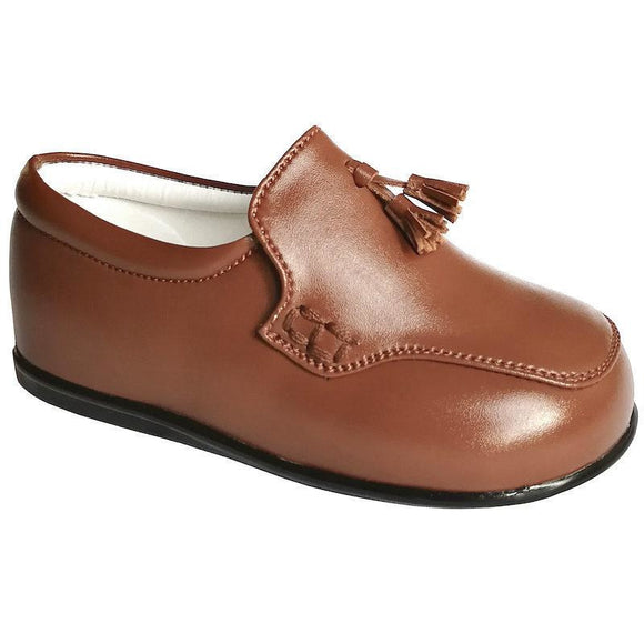 Boys Early Steps Brown Tassel Loafers