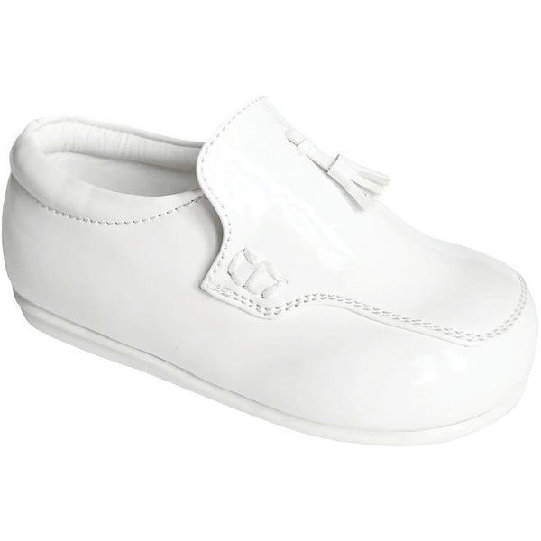 Boys Early Steps White Tassel Loafers