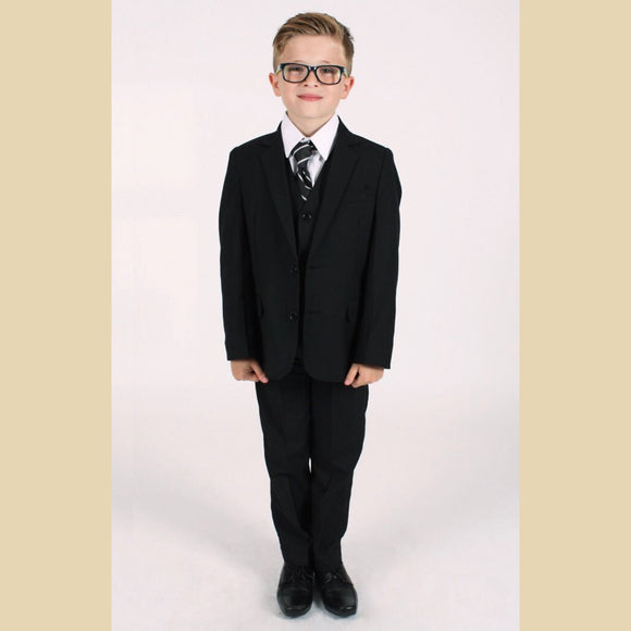 5 piece jacket suit in black