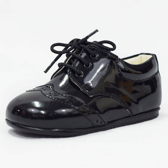 Boys Early Steps Brogues In Black Patent