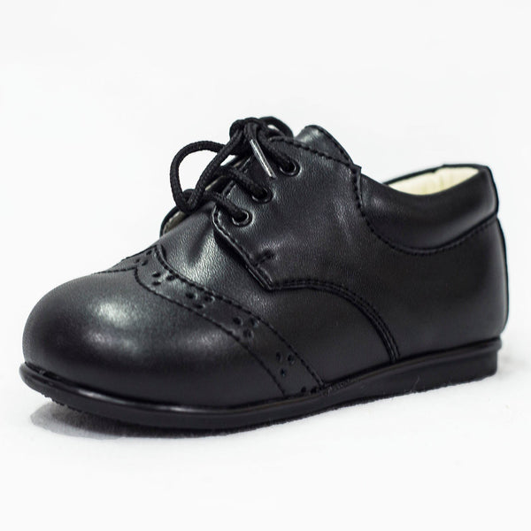 Boys Early Steps Brogues In Matte Black