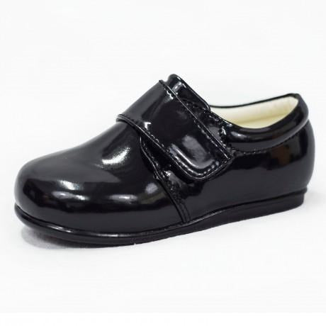 Boys Early Steps Princes Shoes In Black Patent