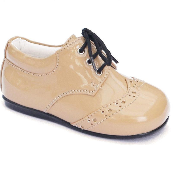 Boys Early Steps Brogues In Camel Patent