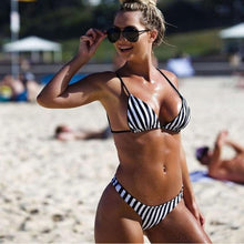Load image into Gallery viewer, Zebra  Bandage Bikini