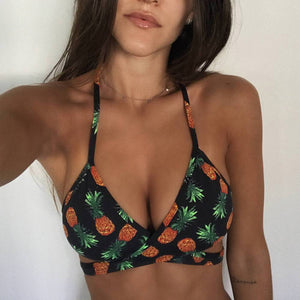 Women Pineapple Print Bikini Sets Two Piece Swimsuits