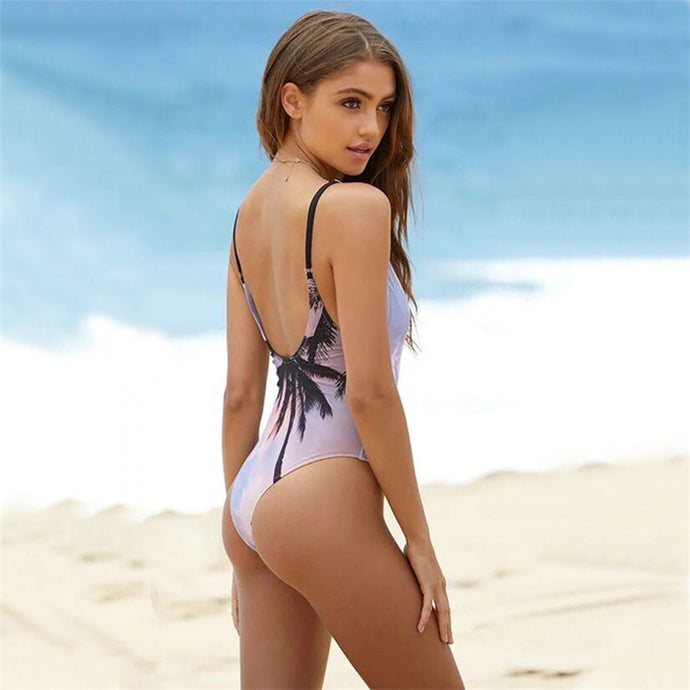 Women Coconut Printing One-Piece Swimsuit