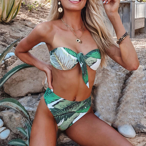 Fashion Women Bikini Swimsuit Floral Bikini Swimsuit Sexy Swimwear
