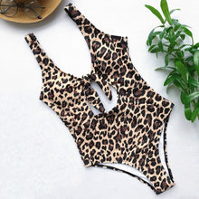 Load image into Gallery viewer, Women's Bikini Leopard One Piece Swimsuit Pushups Filled  Bra Swimwear Beachwear