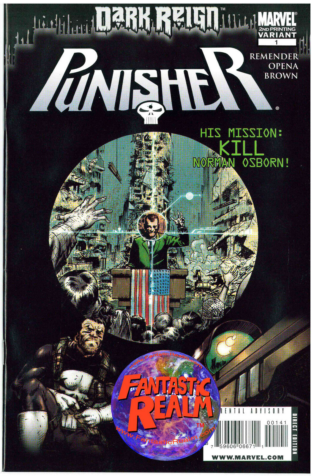 DARK REIGN: PUNISHER #1 2ND PRINT VARIANT MARVEL COMICS