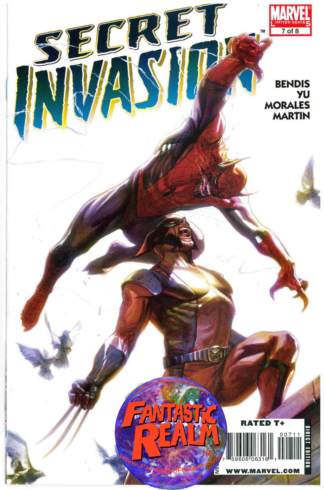 SECRET INVASION # 7 OF 8 (WOLVERINE AVENGERS SPIDERMAN) BENDIS COVER MARVEL