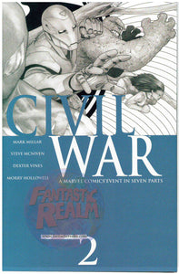 Civil War #2 3rd print Mcniven sketch Variant and color variant