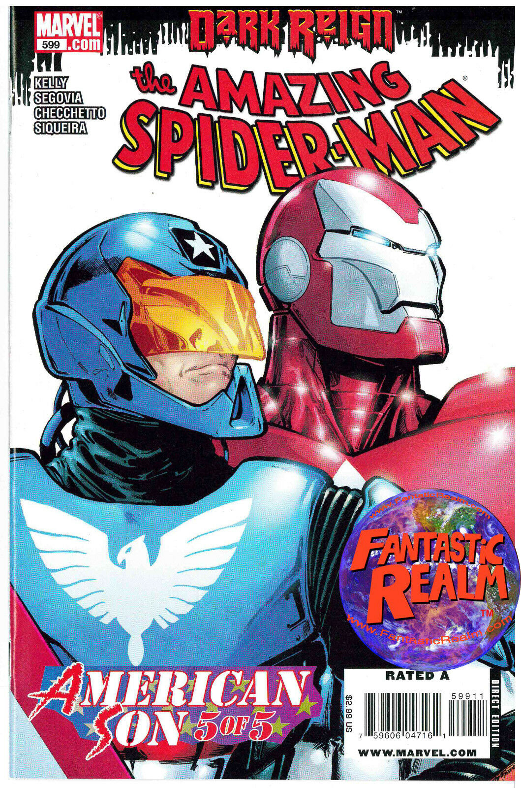 DARK REIGN AMAZING SPIDERMAN #599: AMERICAN SON MARVEL COMICS