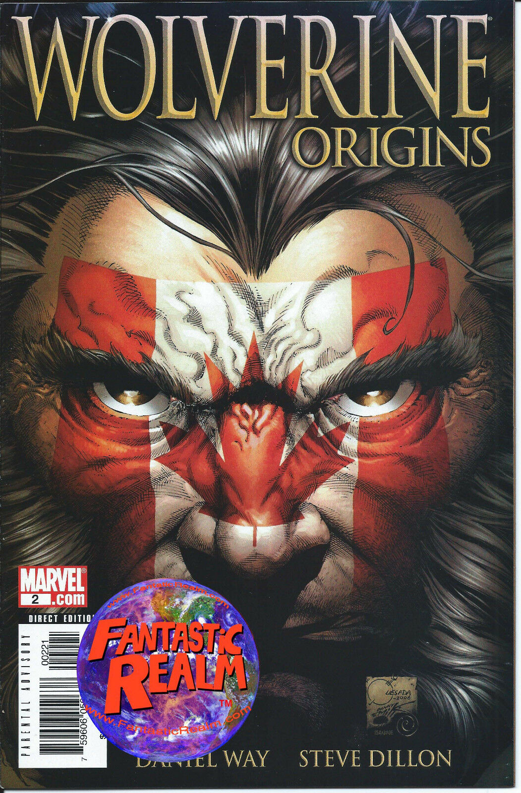 WOLVERINE ORIGINS #2 1:100 CANADIAN FLAG VARIANT MARVEL COMICS