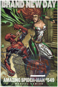 AMAZING SPIDER-MAN #549 & 549 BRAND NEW DAY DAVID FINCH VARIANT MARVEL COMICS