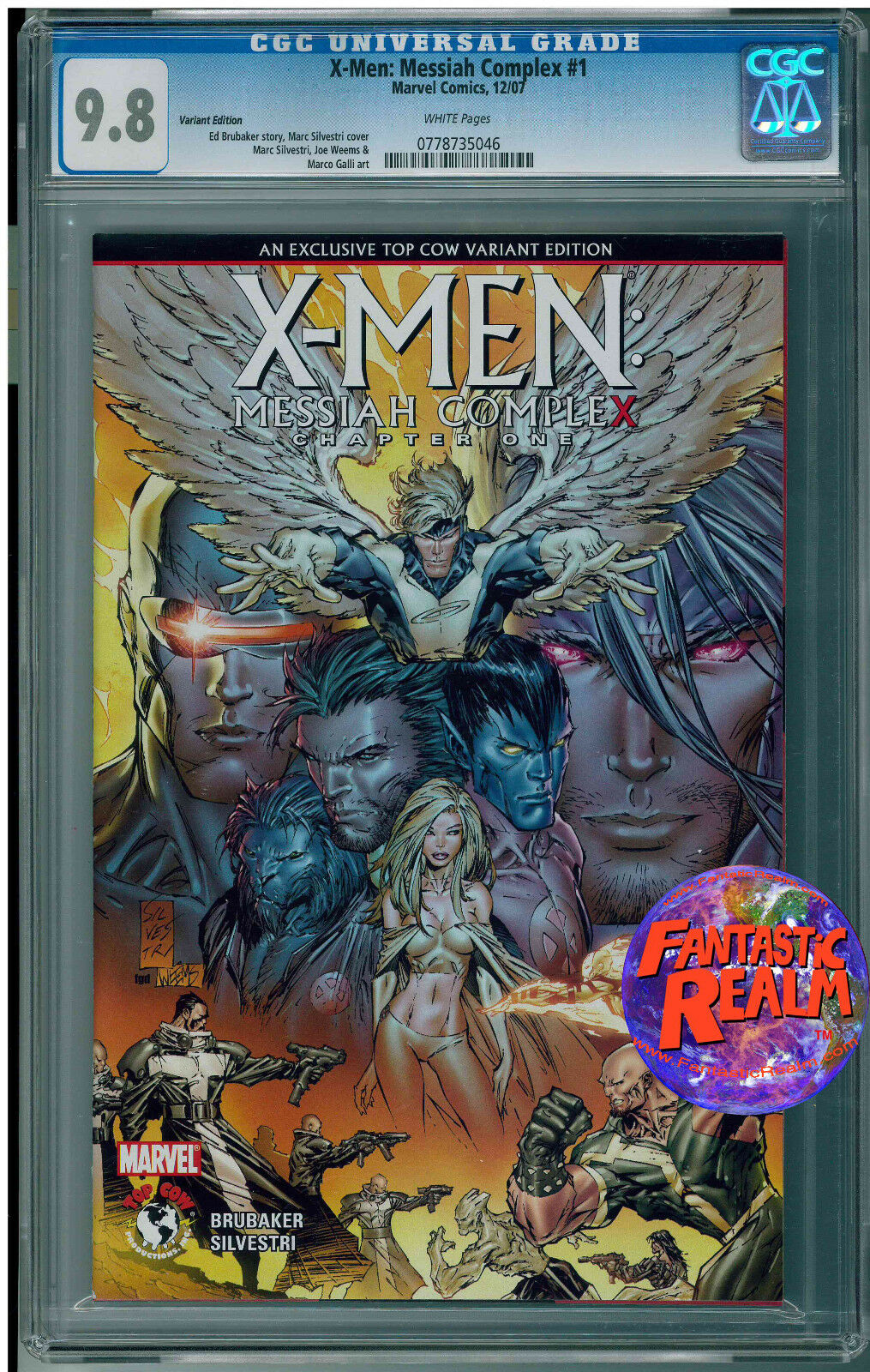 X-MEN MESSIAH COMPLEX CHAPTER ONE #1 TOP COW VARIANT CGC 9.8 MARVEL COMICS
