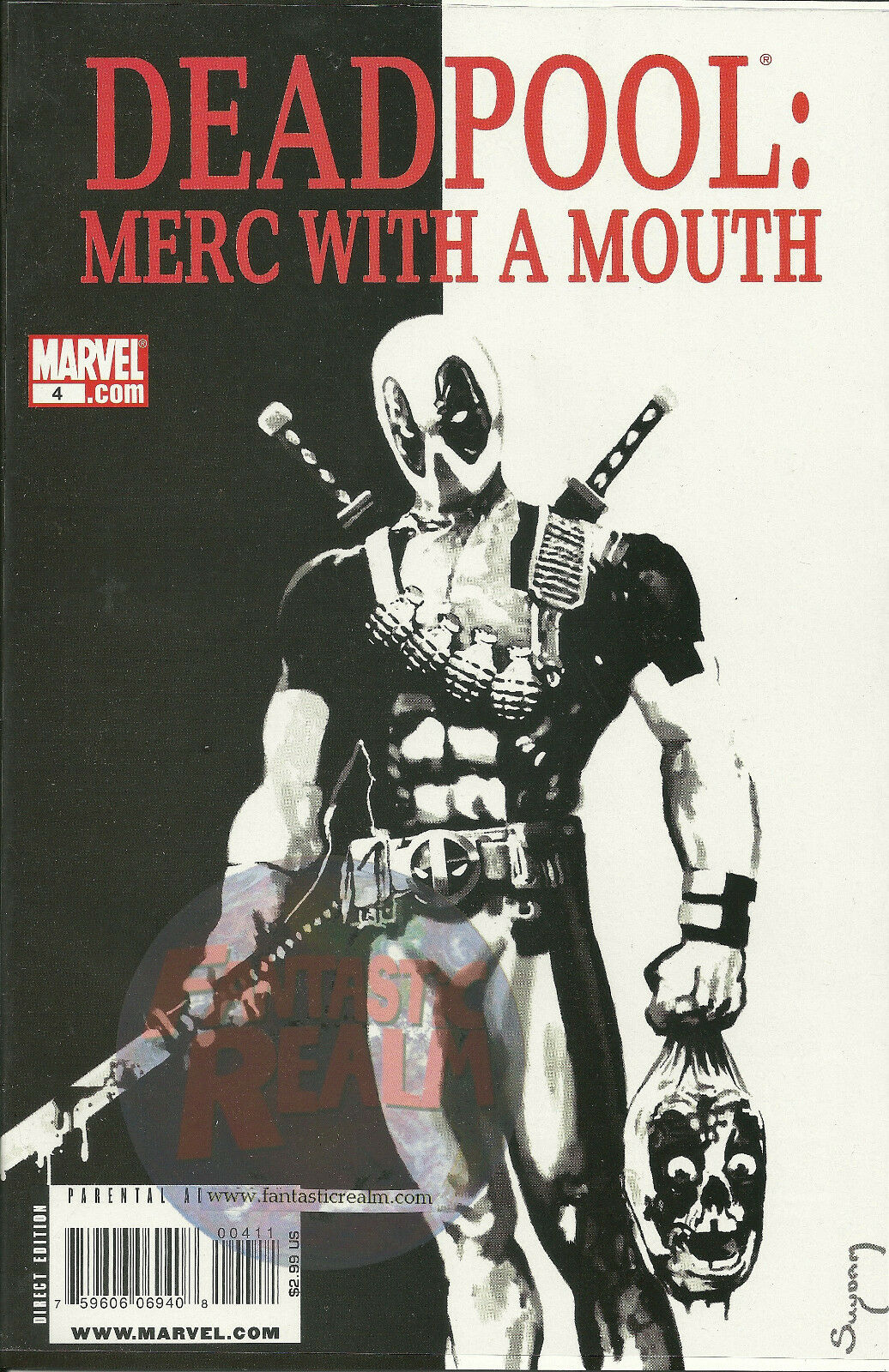 DEADPOOL: MERC WITH A MOUTH #4  FIRST PRINT EDITION (2009)  MARVEL COMICS