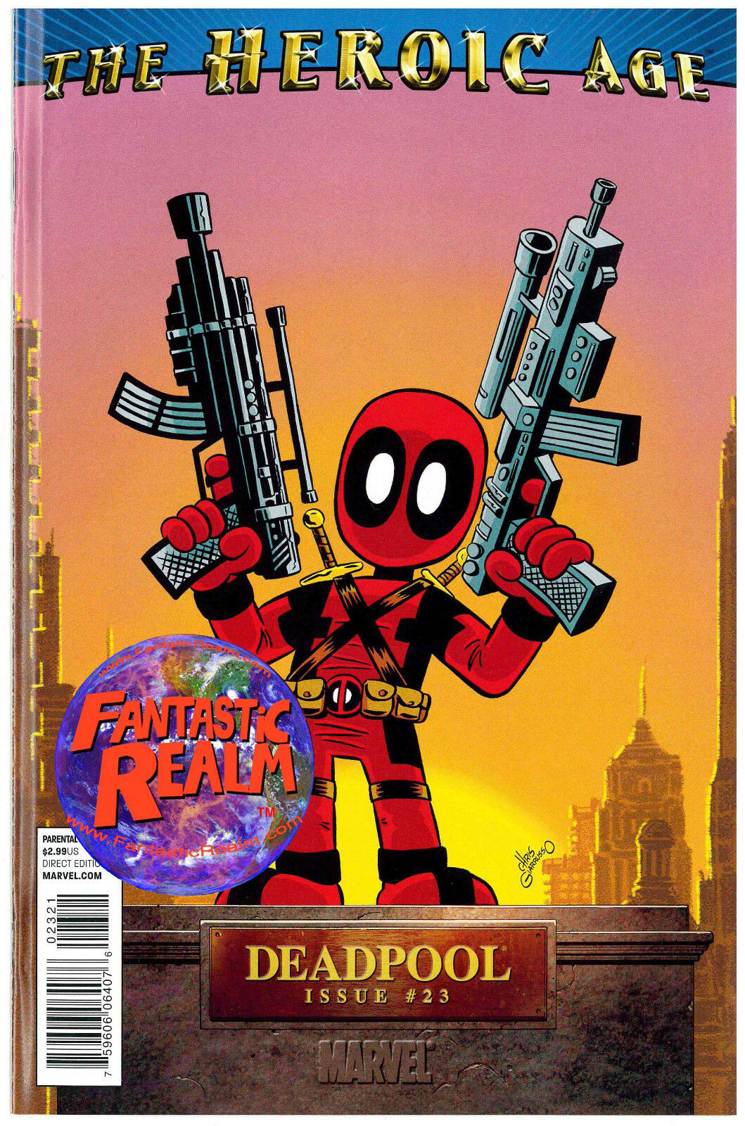 DEADPOOL #23: HEROIC AGE 1:15 CHRIS GIARUSSO VARIANT MARVEL COMICS