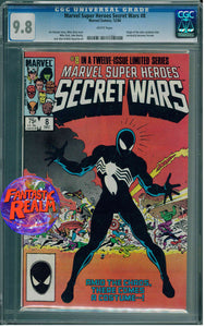 MARVEL SUPER HEROES SECRET WARS #8 CGC 9.8 ORIGIN OF BLACK SUIT MARVEL COMICS
