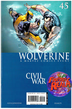 Load image into Gallery viewer, WOLVERINE #45 46 & 47 CIVIL WAR GUGGENHEIM RAMOS MARVEL COMICS