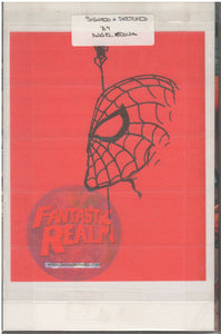SENSATIONAL SPIDER MAN HC #1 SIGNED WITH ORIGINAL ART-SKETCH BY ANGEL MEDINA