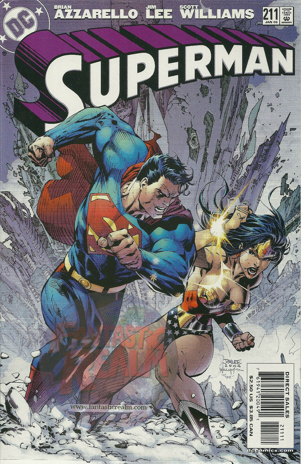 "Superman #211 ""For Tomorrow "" (2004) Jim Lee (Wonder Woman)"