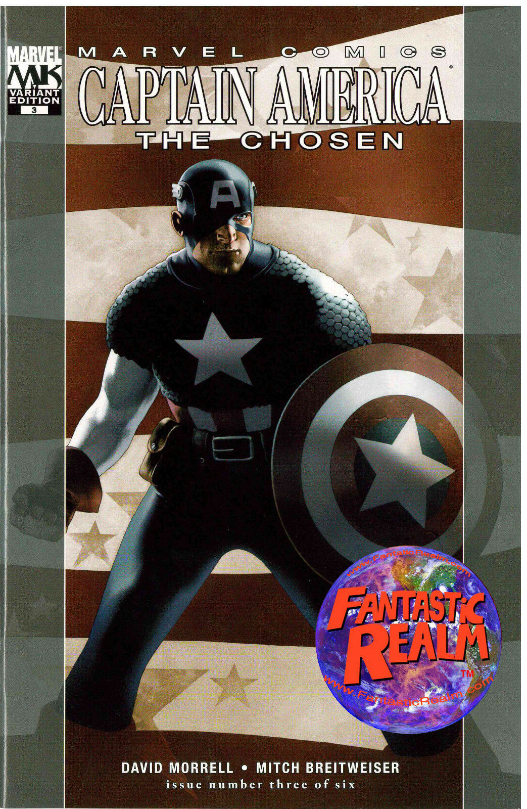 CAPTAIN AMERICA #3: THE CHOSEN VARIANT EDITION (2007) MARVEL COMICS