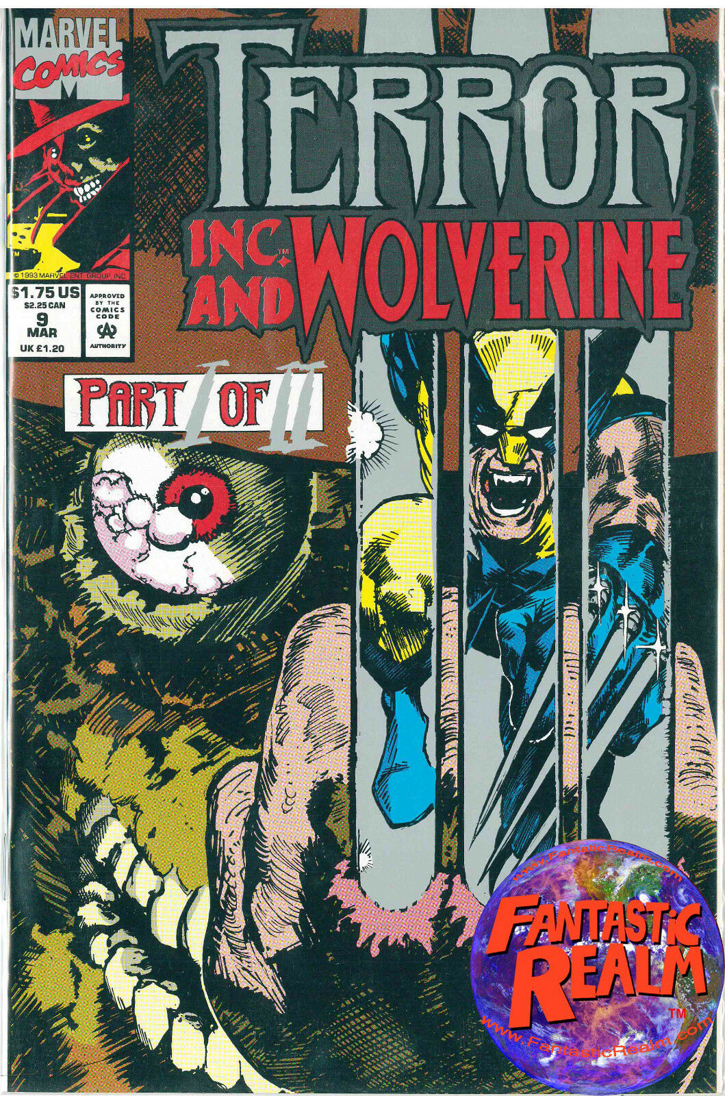 TERROR INC. AND WOLVERINE  #9, 10  PART 1 & 2  (1993) MARVEL COMICS