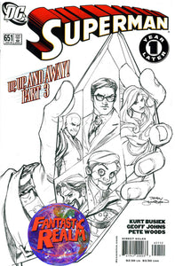 SUPERMAN 650 & 651: UP, UP, AND AWAY 2ND PRINT SKETCH VARIANT DC COMICS