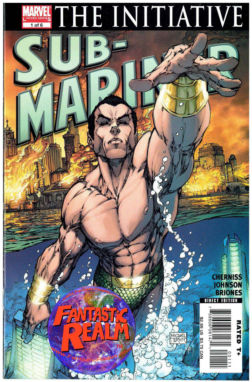 SUB-MARINER #1 TURNER COVER & 2 OF 6: THE INITIATIVE MARVEL COMICS