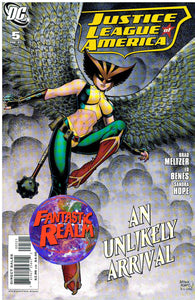 JUSTICE LEAGUE OF AMERICA #5 ART ADAMS HAWKGIRL VARIANT COVER (2007) DC COMICS