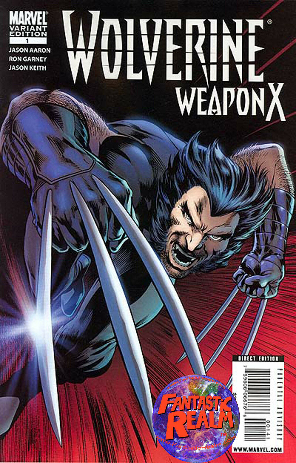 WOLVERINE WEAPON X #1 VARIANT EDITION (2009) ALAN DAVIS JASON AARON COVER