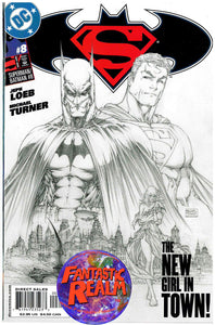 SUPERMAN BATMAN #7 & 8 SKETCH COVER DC COMICS