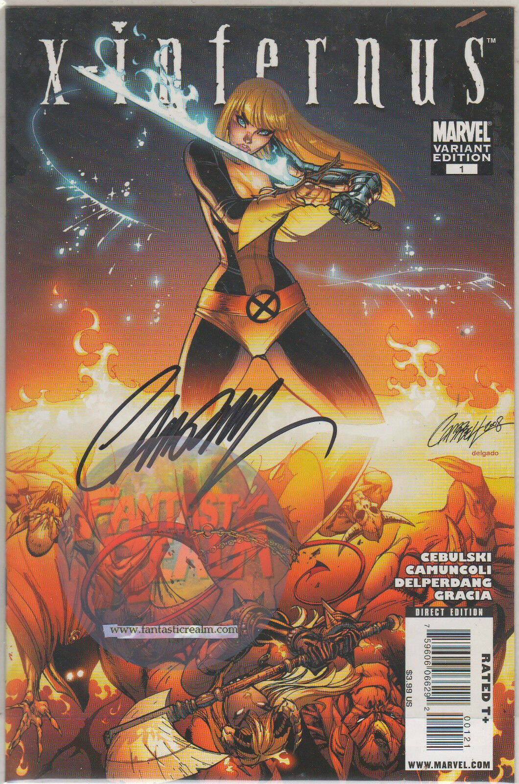 X-Infernus #1 - Rare J. Scott Campbell Variant - Signed High Grade (X-MEN)