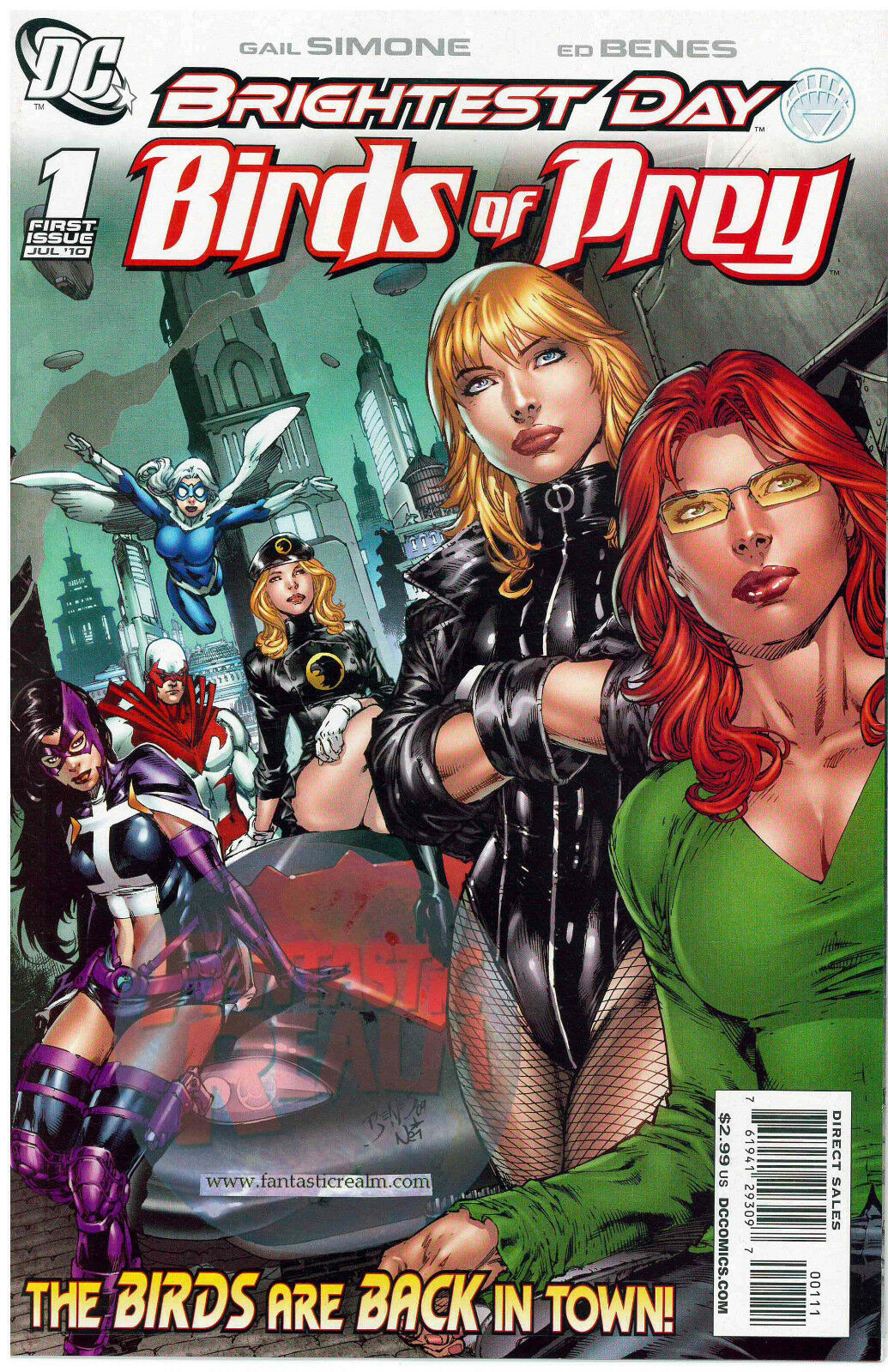 BRIGHTEST DAY: BIRDS OF PREY #1 WHITE CANARY 1ST APP. (2010) DC COMICS