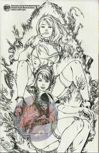 ESCAPE FROM WONDERLAND #4 Fantastic Realm B&W Sketch Exclusive Variant