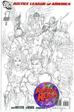 Load image into Gallery viewer, JUSTICE LEAGUE OF AMERICA #1 & SKETCH VARIANT MICHAEL TURNER VARIANT DC COMICS