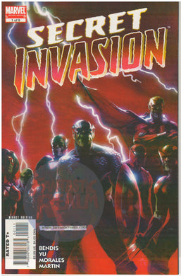 Secret Invasion #1 1st Print Avengers  (2008) Marvel Comics