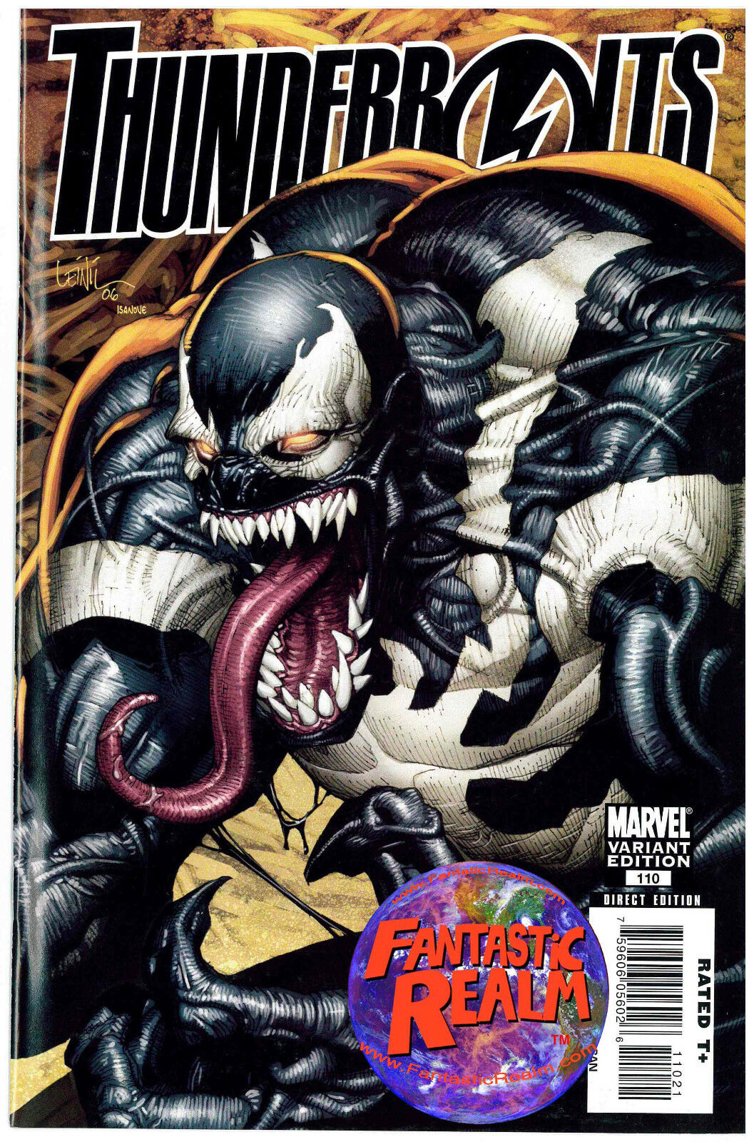 THUNDERBOLTS #110 LEINIL YU VENOM VARIANT COVER MARVEL COMICS