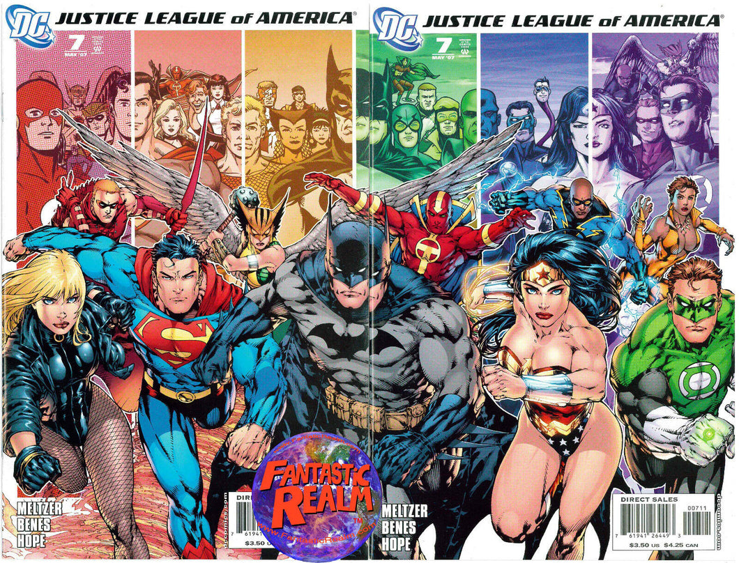 JUSTICE LEAGUE OF AMERICA  #7A & 7B BENES (2006) DC COMICS WONDER WOMAN, BATMAN