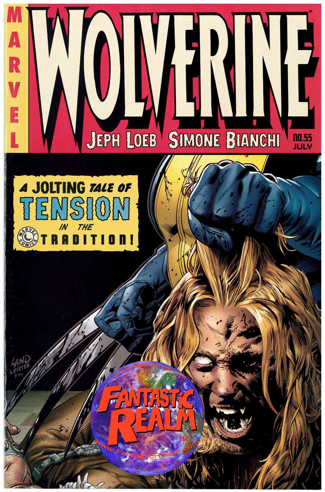 WOLVERINE #55 GREG LAND VARIANT COVER DEATH OF SABERTOOTH MARVEL COMICS