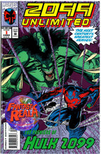 Load image into Gallery viewer, 2099 UNLIMITED #1, 2, 3, 4, 5  HARD TO FIND SET SPIDER-MAN, 1ST HULK 2099 MARVEL