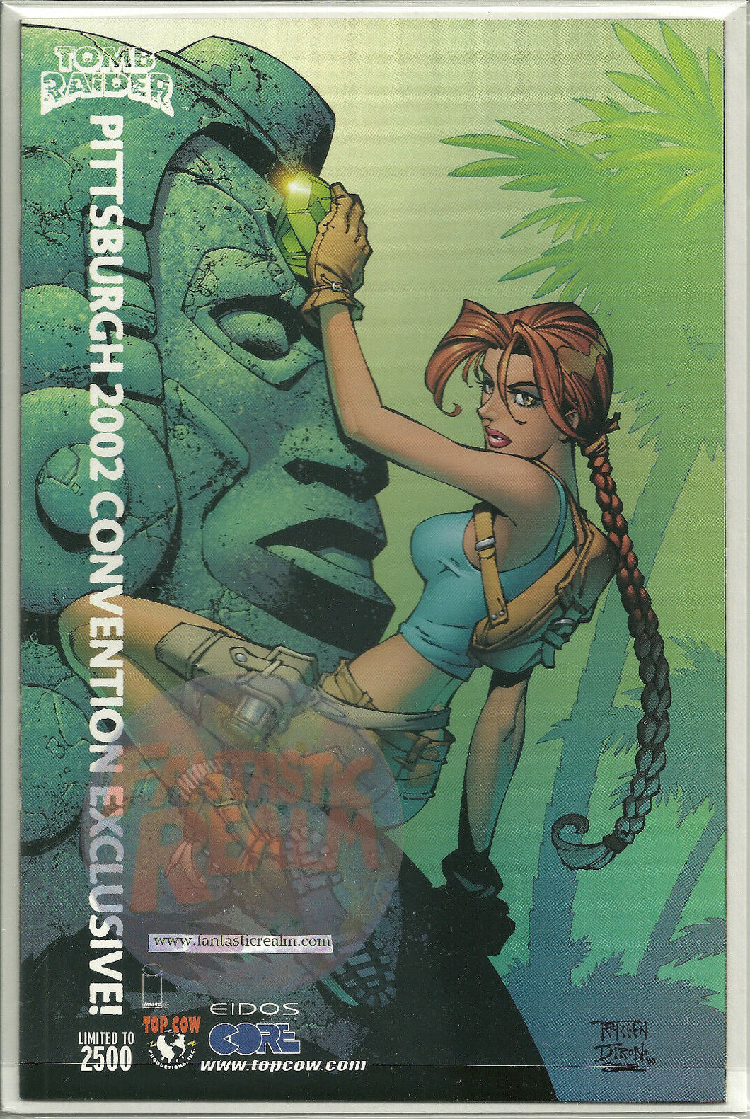 TOMB RAIDER #21 TOP COW RARE PITTSBURGH CONVENTION VARIANT 2002 IMAGE COMICS