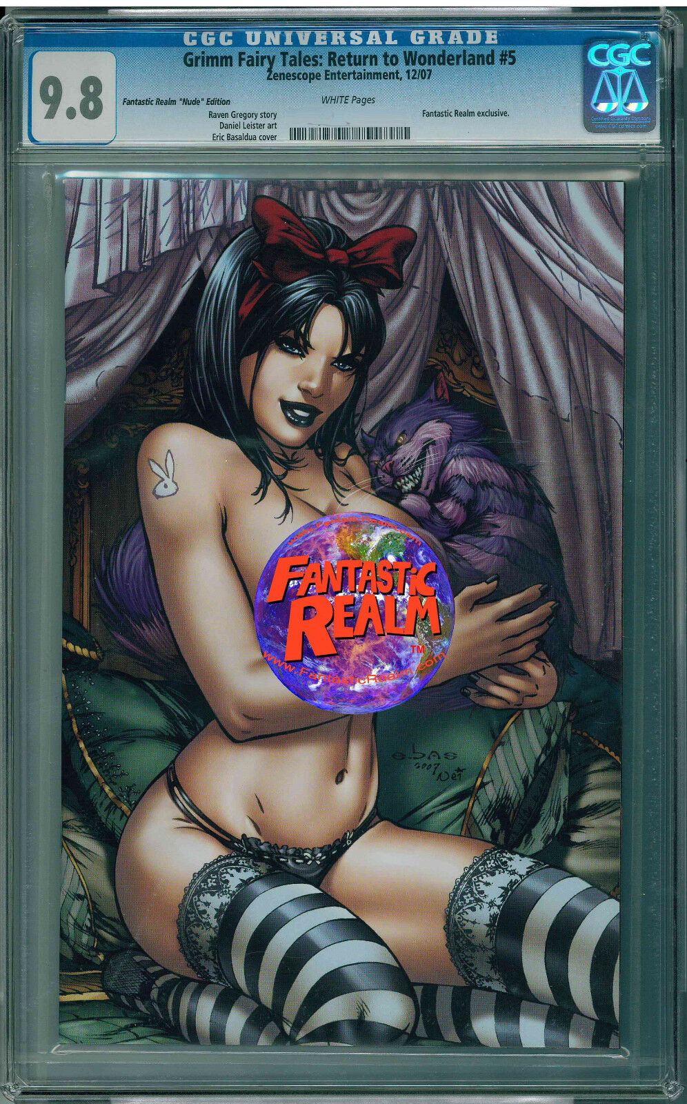 GRIMM FAIRY TALES: RETURN TO WONDERLAND #5 FANTASTIC REALM NUDE EDITION 9.8 CGC